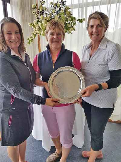 8/11/16 - Winners of Colac Perpetual Plate, Stacey Thomas, Vicki Hannah and Margaret Smith